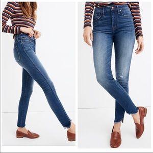 "Madewell 10"" High Rise Skinny Jeans - Tulip Hem 30"